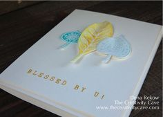 OSAT BLOG HOP: Lighthearted Leaves Watercolor Cards plus beautiful decor frame #stampinup Dena Rekow, The Creativity Cave, Leaflets Framelits, Lighthearted Leaves, Watercolor, handmade cards, greeting Cards