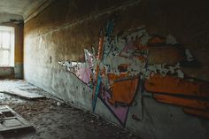Street Art in a Ruined Building