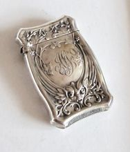 Art Nouveau Sterling Repousse Grotesque Match Strike. - American.  Late 19th. c.