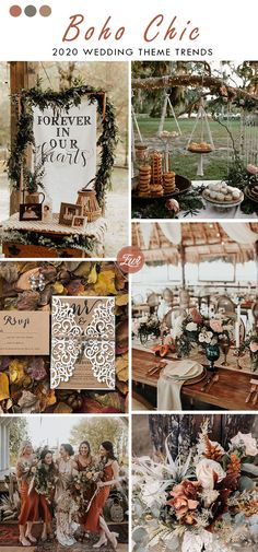terracotta boho chic rustic wedding color theme trend for fall and autumn themes rustic chic Top 8 Wedding Theme Trends Unveiled for 2020 Classic Wedding Themes, Rustic Wedding Colors, Timeless Wedding, Chic Wedding, Wedding Trends, Wedding Colors For Fall, Color Themes For Wedding, Colors For Weddings, Rustic Elegant Wedding Dress