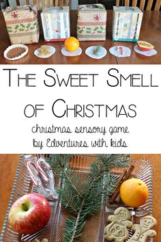 The Sweet Smell of Christmas - sensory game Discovering new books is always a joy and this year Story Book Advent is revealing so many new lovely books to me, although today's book is a classic Christmas story it's a delightful interactive book Christmas Activities For Kids, Christmas Party Games, Preschool Christmas, Christmas Holidays, Christmas Crafts, Christmas Ideas, Christmas Smells, Childrens Christmas, Christmas Tree