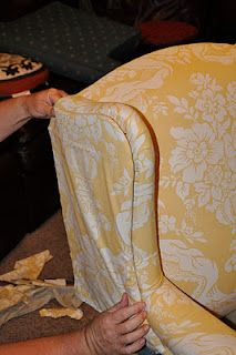 How to upholster a chair.