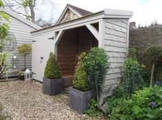 More symmetry for a traditional look traditional garage and shed (or goat house with attached milking shelter?!)