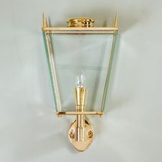 Mid-century style brass wall lanterns - Decorative Collective
