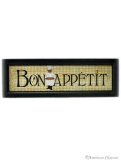Amazon.com: New Fat French Chef Bon Appetit Wall Art Kitchen Decor: Home & Kitchen