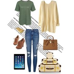 A fashion look from January 2015 featuring tall t shirts, long sleeve tops and distressed jeans. Browse and shop related looks.