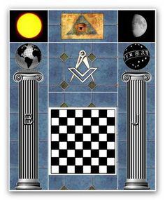 Freemasonry: In the chessboard has esoteric symbolism. Masonic Art, Masonic Lodge, Masonic Symbols, Masonic Temple, Freemason Symbol, Sun Worship, Grand Lodge, Esoteric Art, Art Of Manliness