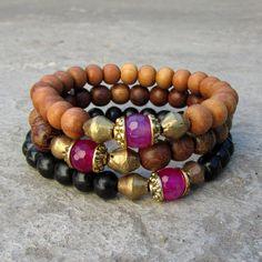 Pink Beaded Bracelets stacked | pink_agate_set_f9762feb-e6c8-47c9-a0b5-0f7084329467_grande.jpg?v ...