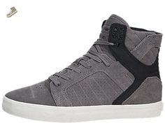 Supra Chad Muska Skytop Skate Shoe - Men's Grey Suede/Black SUPRATUF, 8.5 - Supra sneakers for women (*Amazon Partner-Link)