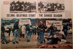 """Selma: Beatings Start the Savage Season,"" March Photo credit: LIFE magazine — in Selma, Alabama. Selma Alabama, Savage Season, Free Cash, Capitol Building, Martin Luther King, Life Magazine, Photo Credit, Breakup, March"