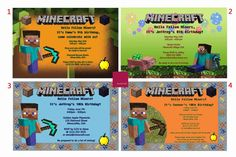 Minecraft Birthday Invitation - Personalized & Printable