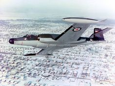 This is one of the few photographs of the Avro CF 100. It was so far advanced in it's day that Preident Kennedy asked the Prime Minister of Canada, John Diefenbaker to scrap it for fear it would make the Russians too nervous and heighten conflict during the Cold War. All the blueprints and everything associated with this plane were destroyed.