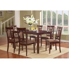 Solid Wood Dining Room Table Lovely solid Wood Dining Table and Chairs Dining Room Sets, Kitchen Dining Sets, Pub Table Sets, Dining Room Table, Dining Chairs, Side Chairs, Room Kitchen, Room Chairs, Wood Table