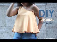DIY Tutorial y patrones: Blusa asimetrica - YouTube