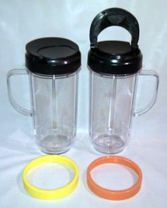 2 Bullet On The Go Mugs for Magic Bullet with Flip Top Travel Lids by Magic Bullet, http://www.amazon.com/dp/B008AK94L8/ref=cm_sw_r_pi_dp_b3XCsb1Z15NDS