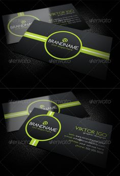 "Creative Black Business Card  #GraphicRiver         INCLUDE:  	 - Easy customizable and editable  - Layered PSD files  - CMYK  - 300 DPI  - 3.5"" x 2"" (with bleed area)  - Print Ready Format  - Font used: Comfortaa (link inside)  	 DON`T FORGET TO RATE , THANK YOU      Created: 23October12 GraphicsFilesIncluded: PhotoshopPSD Layered: Yes MinimumAdobeCSVersion: CS PrintDimensions: 3.5x2 Tags: black #bothsides #brand #businesscard #creative #design #designer #green #modern #pattern #print…"
