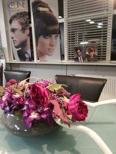 Zijde hortensia pioen bloemen