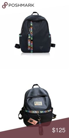 38d7345a1f9e Moschino Backpack Multi-Color Moschino Bookbag Moschino Bags Backpacks  Moschino Bag