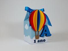 Festa Balão - Festa Viagem de Balão - Festa Volta ao Mundo - Caixa Milk