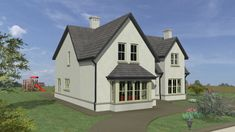 Dormer Bungalow, Ireland Homes, Open Fireplace, Bay Window, Ground Floor, Exterior Design, My House, House Plans, Home And Family
