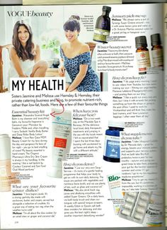 My Health'. Vogue.   New year, new you. Here's what health food lover Jasmine from Hemsley & Hemsley thinks of our Angel Balm. http://alexandrasoveral.co.uk/ourshop/prod_203281-ANGEL-BALM.html