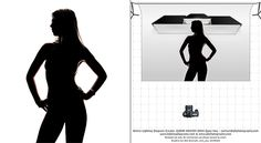 studio silhouette lighting setup photography