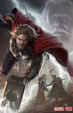 "Concept art for ""The Avengers"" movie - Thor / Chris Hemsworth."