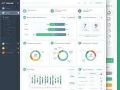 Dribbble - Contract Management App for Businesses (analytics page) by Paul Adrian
