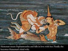 Thai Mythology Painting 3 by TravelPod Member Dorrance Mermaid History, Mythology Paintings, Art Thai, Kalamkari Painting, Thailand Art, Tarot, Art Asiatique, Mermaids And Mermen, Asian History