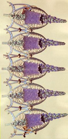 Lalique 'Speedwells' Bracelet 1900-02: enamel/ glass/ gold: signed 'Lalique' on the fastener: museo.gulbenkian.pt