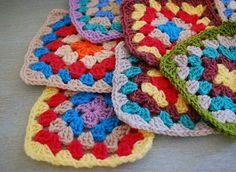 Deer Little Fawn: Crochet granny square pattern