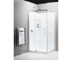 Newline Trent 915mm Square Enclosure • 1900mm high frameless pivot door & return • Supplied with Newline Easy Clean waste, acrylic tray & walls, glue & sealant pack • Made in New Zealand. $2265 inc. GST Valid Until 31 Jul 14