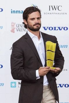 Prince Carl Philip of Sweden is attending the Volvo Ocean Race start in Alicante, Spain