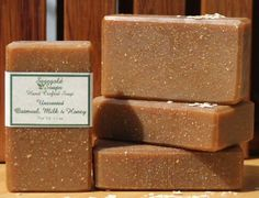 Unscented Oatmeal, Milk and Honey Handmade Cold Process Soap