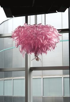 Contemporary Glass: Erbium Chandelier by Dale Chihuly, 1993 | Corning Museum of Glass