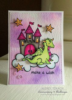Lawn Fawn Critters Ever After, Bon Voyage stamps and dies; Tim Holtz Distress Watercolor paper, white Other: Copic Markers, Pretty Pink Posh Sparkling Clear Sequins Mama Elephant Cards, Dinosaur Cards, Lawn Fawn Blog, Lawn Fawn Stamps, Kids Cards, Baby Cards, Card Making Inspiration, Card Sketches, Copics