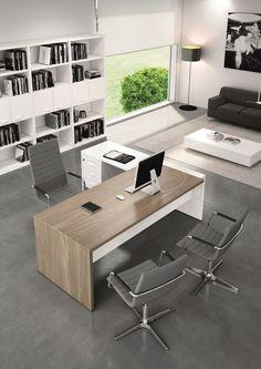 Escritorio de oficina ejecutivo con estantes T45 | Escritorio de oficina con estantes by Quadrifoglio