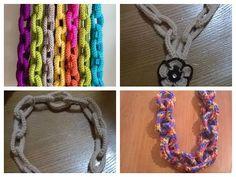 "Tutorial collana all'uncinetto ""magnetica"" - necklace crochet - collar en crochet - YouTube"