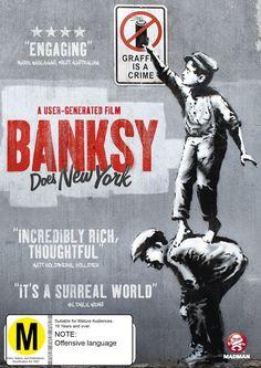 Banksy Does New York poster, t-shirt, mouse pad Graffiti Murals, Art Mural, Banksy Artwork, Nova York Poster, Banksy New York, New York Movie, Hbo Documentaries, Street Art Banksy, Bansky