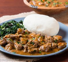 Classic Kenyan Beef Stew and Ugali - Pika Chakula - Halima Samba - African Food Kenyan Beef Stew Recipe, Beef Stew Meat, Beef Stews, South African Recipes, Ethnic Recipes, Kenyan Recipes, Kenyan Dishes Recipe, Nigerian Food Recipes, Gujarati Recipes