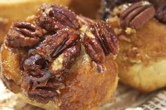 YUM! Sticky Buns with Pecans and Maple Syrup (recipe from Food and Wine)