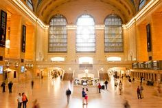 Engagement photo in the Main Concourse of Grand Central Terminal.