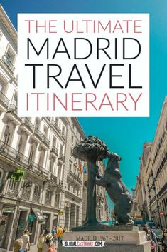 Detailed Madrid travel itinerary that will guide you through the very best spots in town. Spend 2 days in Madrid the best way possible! #globalcastaway Best Places To Travel, Best Cities, Spain And Portugal, Portugal Travel, Madrid Travel, Girls Getaway, European Destination, Travel Guides, Travel Tips