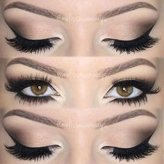 Dramatic Brown Eyes makeup with Perfect Long Eyelashes