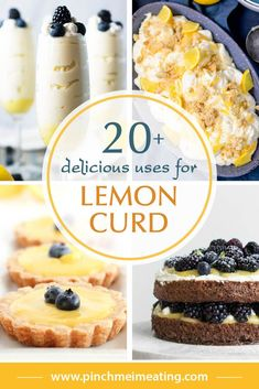 23 Delicious Uses for Lemon Curd Do you have some store-bought or homemade lemon curd and aren't sure what to do with it? Here are delicious recipes and other uses for lemon curd to help you out! Lemon Curd Cookies Recipe, Recipes Using Lemon Curd, Lemon Curd Uses, Lemon Curd Dessert, Recipe Using Lemons, Vegan Lemon Curd, Easy Lemon Curd, Lemon Curd Cake, Citrus Recipes