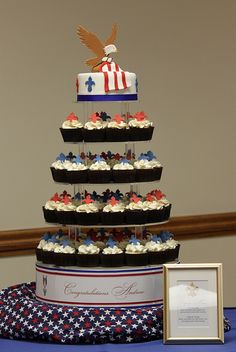 Cup Cake Tower for Eagle Scout Ceremony