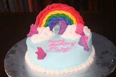 Rainbow and Butterfly Cake