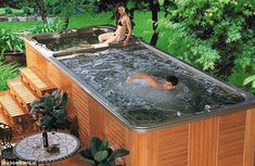 Luxema 8000 Hot Tub Has Two Levels, Built-In Flat Screen TV, Stereo System And A Bar (PHOTOS)