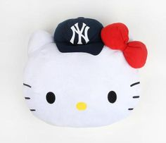 Hello Kitty MLB Cushion: NY Yankees