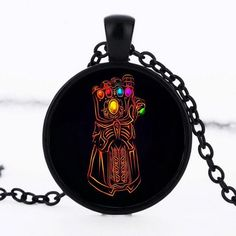 Infinity Glove Cabochon Necklace